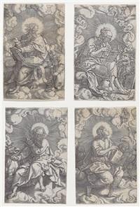 die vier evangelisten - komplette folge von vier kupferstichen by heinrich aldegrever