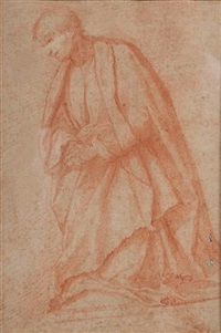 figure de moine priant by jacopo (da empoli) chimenti