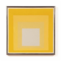 study for homage to the square: dark plays lighter by josef albers