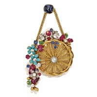 basket brooch by marchak