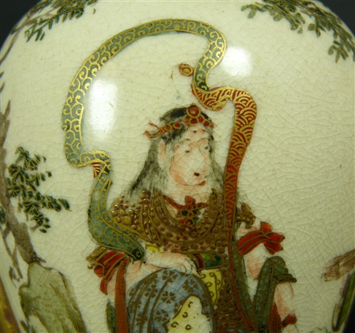 pr imperial satsuma porcelain foo dog vases