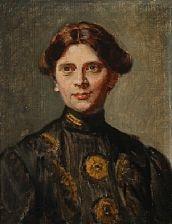 portrait of anna saxild (b. skagen 1880), married to jens petersen bitsch by michael peter ancher