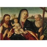 madonna col bambino e santi by girolamo da santacroce