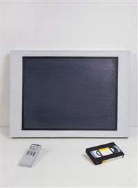 plasma screen, videotape, remote control by rafal bujnowski