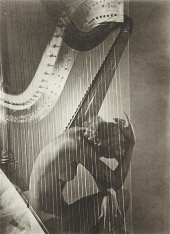 lisa with harp paris by horst p horst