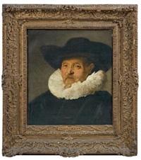 portrait d'homme au chapeau noir by frans hals the elder