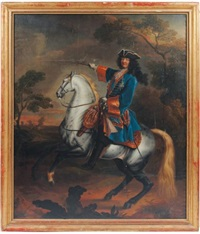 louis xiv à cheval by sauveur le conte