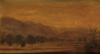 landscape at dusk by john william casilear