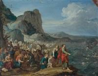 moïse et le passage de la mer rouge by hans jordaens iii