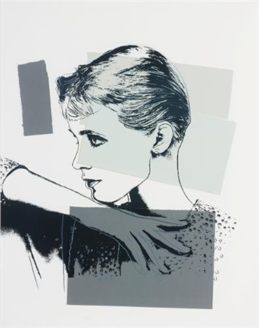 unidentified woman halston model by andy warhol