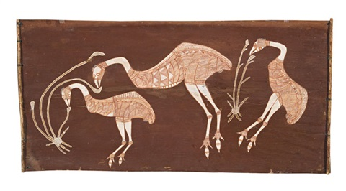 emus feeding by lofty narbardayal nadjamerrek