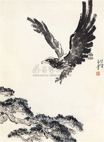 松鹰图 (the eagle) by xu beihong