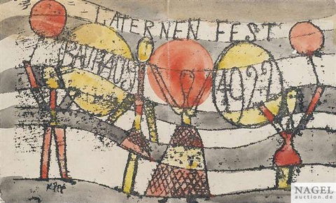 laternenfest bauhaus 1922 by paul klee