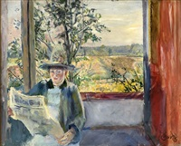oda reads verdens gang by christian krohg