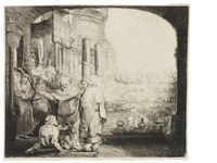peter and john healing the cripple at the gate of the temple by rembrandt van rijn