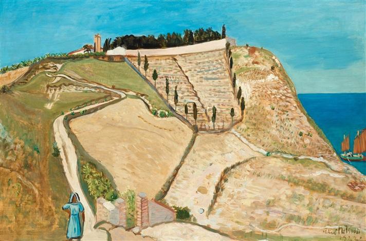 landskap vid adriatiska havet landscape by the adriatic sea by axel nilsson