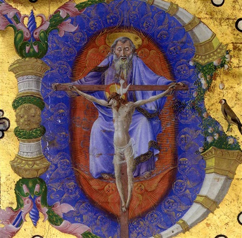 trinity historiated initial b by taddeo crivelli