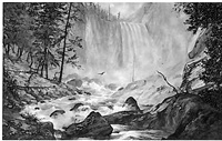 mountain waterfall by william wallace armstrong