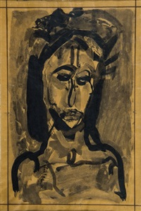 tête de christ - la passion n° 16 by georges rouault