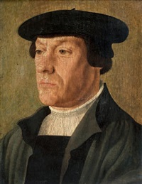 portrait d'homme au béret by jan van scorel