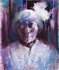 woman in white hat by virginia fouche bolton