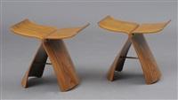 butterfly stools (pair) by sori yanagi