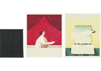 arimoto toshio collection (portfolio w/2 original works) by toshio arimoto