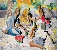 singed picnic by dana schutz