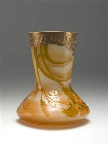 vase mit kürbisblüten by a clain perrier fils