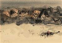 composition no. 206 by chu teh-chun