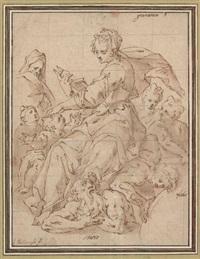 an allegory of grammar by hendrick de clerck