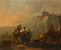 middle eastern travelers by nicolaes berchem