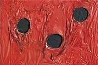 rosso plastica by alberto burri