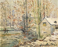 paysage d'hiver by maxime maufra