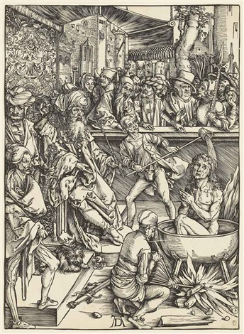 the martyrdom of saint john from the apocalypse by albrecht dürer