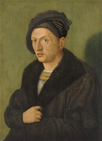 portrait of a man by hans (suess von) kulmbach