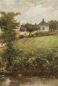 view of the ames family home by william morris hunt