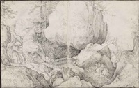 a stream in a rocky landscape by roelandt savery