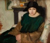 portret kobiety w kapeluszu by alfons karpinski