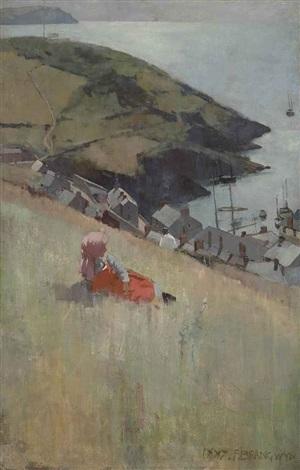 above the fishing village by sir frank brangwyn