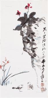 花鸟 设色纸本 by zhang daqian
