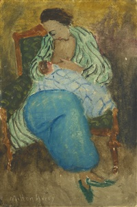 mother and child by milton avery