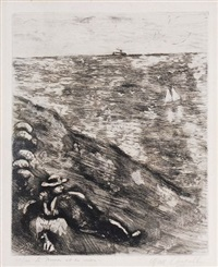 riposo by marc chagall