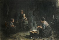 family in an interior by jozef israëls