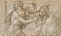 un jeune homme arrêtant un cheval by pseudo gherardi