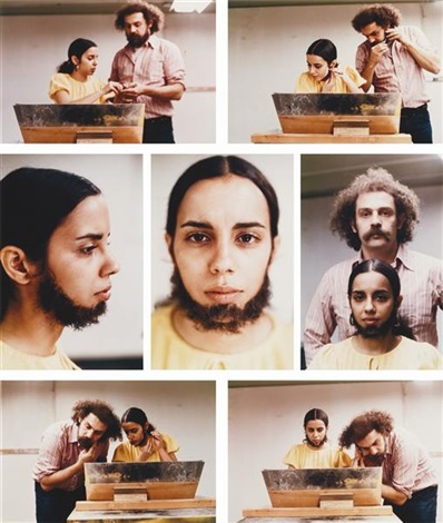 untitled facial hair transplants 7 works by ana mendieta