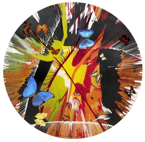 beautiful cannibalistic electofetish fighting in the lava beds who got my eyeball paper spin painting with butterflies by damien hirst
