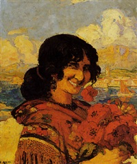 l'espagnole aux coquelicots by marius ernest joseph azema