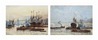 tower bridge and greenwich reach (a pair) by frederick william scarborough