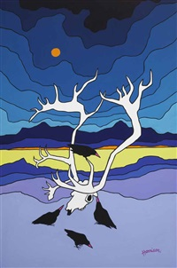 caribou antlers by ted harrison